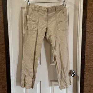 New York & Company Tan Linen Blend Ankle Pants 4